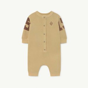 The Animals Observatory  - SHEEP BABY JUMPSUIT YELLOW 15 - Clothing