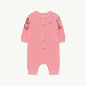 The Animals Observatory  - SHEEP BABY JUMPSUIT PINK 15 - Clothing
