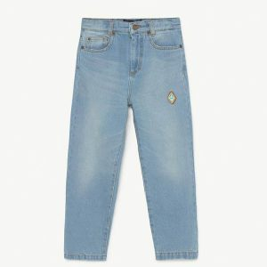 The Animals Observatory  - ANT KIDS TROUSERS DENIM LOGO - Clothing