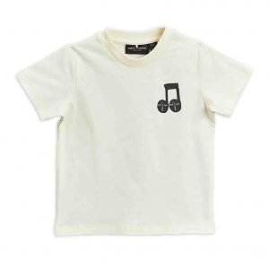 Mini Rodini  - NOTE T-SHIRT OFFWHITE - Clothing