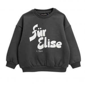 Mini Rodini  - FUR ELISE SWEATSHIRT GREY - Clothing