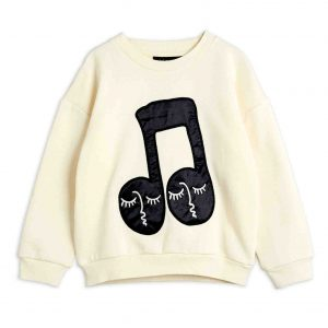 Mini Rodini  - NOTE SWEATSHIRT OFFWHITE - Clothing