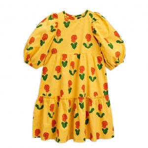 Mini Rodini  - VIOLAS PUFF DRESS YELLOW - Clothing