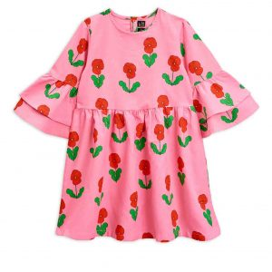 Mini Rodini  - VIOLAS DRESS PINK - Clothing