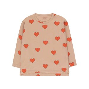 Tinycottons  - HEARTS TEE LIGHT NUDE RED - Clothing