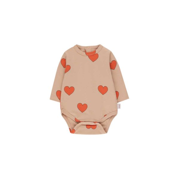 Tinycottons  - HEARTS BODY LIGHT NUDE RED - Clothing