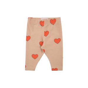 Tinycottons  - HEARTS BABY PANT LIGHT NUDE RED - Clothing