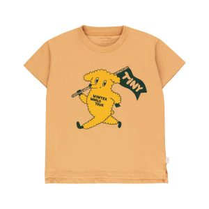 Tinycottons  - DOG TEE CAMEL YELLOW - Clothing