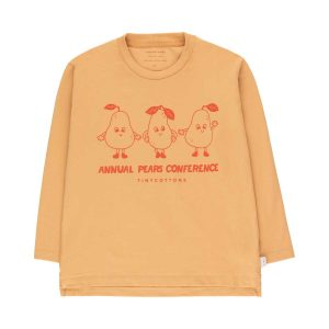 Tinycottons  - PEARS CONFERENCE TEE CAMEL RED - Clothing