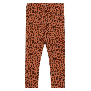 Tinycottons  - ANIMAL PRINT PANT SIENNA DARK BROWN - Clothing