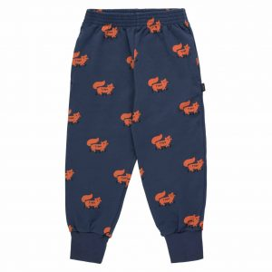 Tinycottons  - FOXES SWEATPANT LIGHT NAVY SIENNA - Clothing