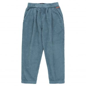 Tinycottons  - SOLID PLEATED PANT SEA BLUE - Clothing