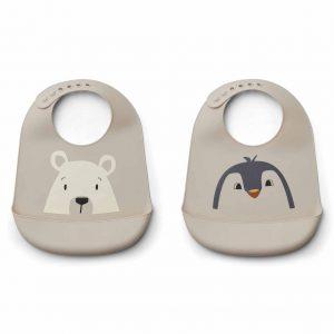 Liewood  - TILDA SILICONE BIB ARCTIC MIX - 2 PACK - Accessories