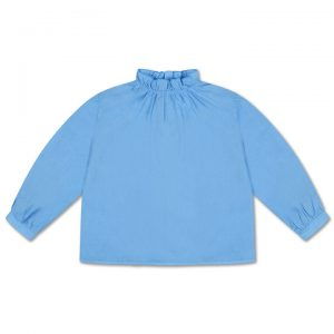 Repose AMS  - RUFFLE BLOUSE BRIGHT SKY BLUE - Clothing