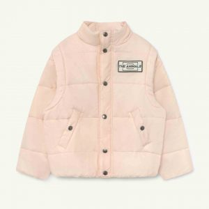 The Animals Observatory  - LEMUR KIDS JACKET SALMON THE ANIMALS - Clothing