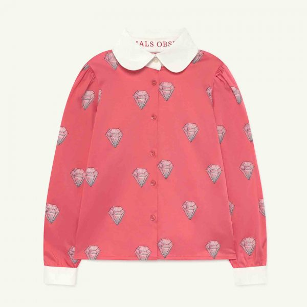 The Animals Observatory  - CANARY KIDS SHIRT PINK DIAMONDS - Clothing