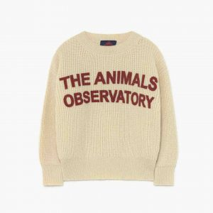 The Animals Observatory  - TAO BULL KIDS SWEATER WHITE ANIMALS - Clothing