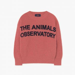 The Animals Observatory  - TAO BULL KIDS SWEATER PINK ANIMALS - Clothing
