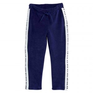 Mini Rodini  - PIANO TERRY TROUSERS NAVY - Clothing
