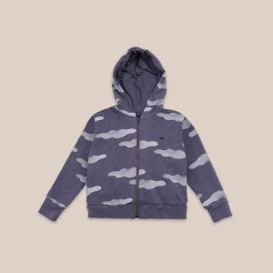 Bobo Choses  - CLOUDS ALL OVER ZIPPED HOODIE - Clothing