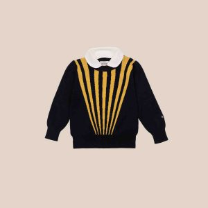 Bobo Choses  - STRIPES COLLAR JUMPER - Clothing