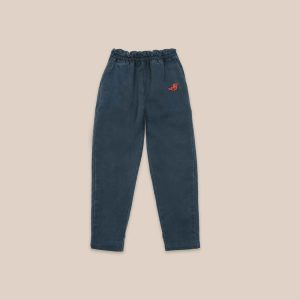 Bobo Choses  - BIRD EMBROIDERY WOVEN PANTS - Clothing
