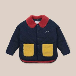 Bobo Choses  - BOBO CHOSES MULTICOLOR QUILTED JACKET - Clothing