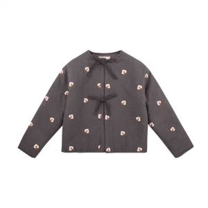 The New Society  - AGNES  JACKET CARBOON FLOWER EMBROIDERY - Clothing