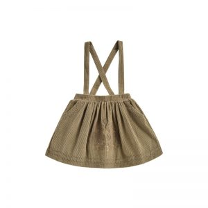 Louise Misha  - SKIRT ELEONOR KHAKI VELVET - Clothing