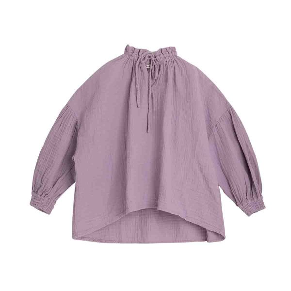 The New Society  - OLIVIA BLOUSE LAVANDE - Clothing