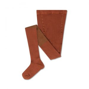 Repose AMS  - TIGHTS AUTUMN BROWN COLOR BLOCK - Clothing
