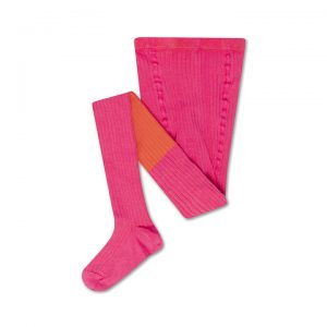 Repose AMS  - TIGHTS HOT PINK FIRY RED COLOR BLOCK - Clothing