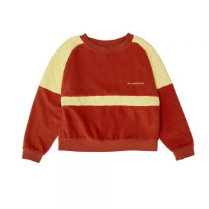 The Campamento  - BROWN CONTRASTED SWEATSHIRT - Clothing