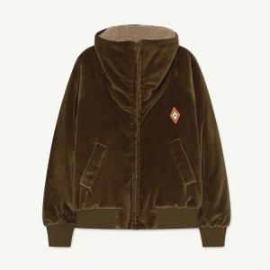 The Animals Observatory  - TIGER KIDS JACKET KHAKI LOGO - Clothing