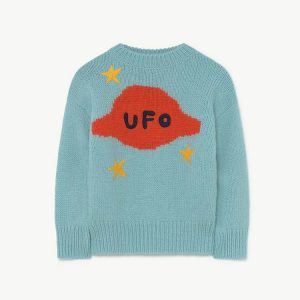 The Animals Observatory  - SPACE BULL KIDS SWEATER SOFT BLUE - Clothing