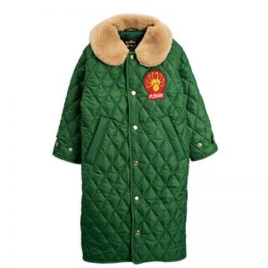 Mini Rodini  - QUILTED COAT DARK GREEN - Clothing