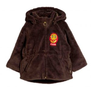 Mini Rodini  - FAUX FUR PARKA BROWN - Clothing