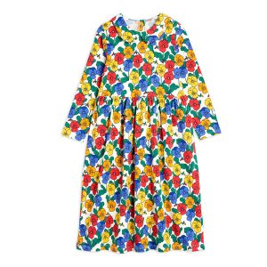Mini Rodini  - VIOLAS COLLAR DRESS MULTI - Clothing