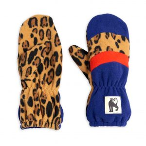 Mini Rodini  - BLOCK STRIPE FLEECE MITTENS BLUE - Accessories