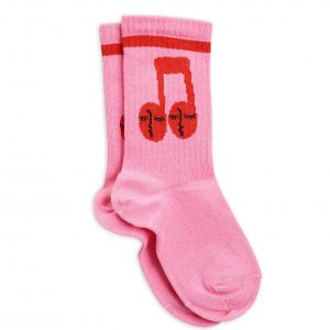 Mini Rodini  - NOTES SOCKS PINK - Clothing