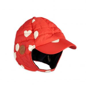 Mini Rodini  - INSULATOR HEARTS CAP RED - Accessories