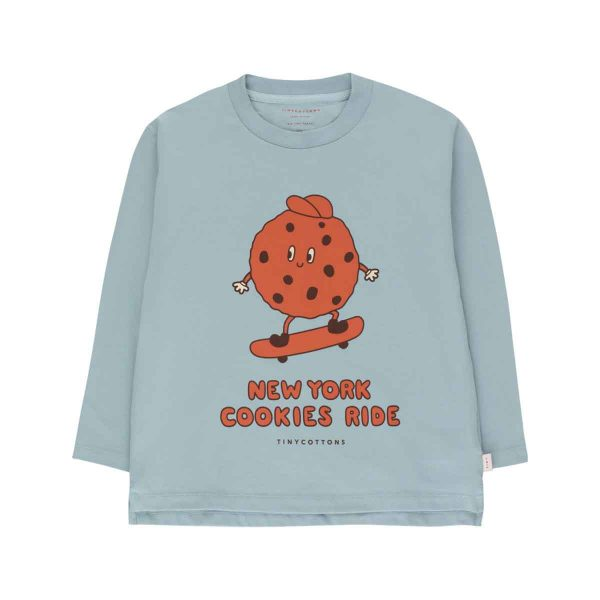 Tinycottons  - COOKIE RIDE TEE WARM GREY SIENNA - Clothing