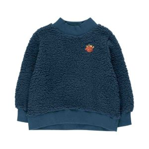 Tinycottons  - TINY DOG SWEATSHIRT NAVY - Clothing