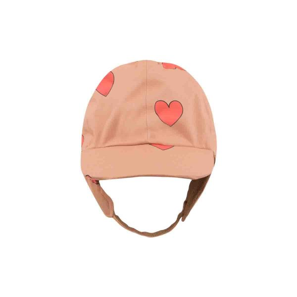 Tinycottons  - HEARTS SNOW HAT TAN RED - Accessories