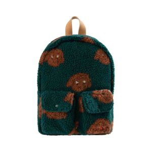 Tinycottons  - TINY DOG SMALL SHERPA BACKPACK DARK GREEN SIENNA - Accessories