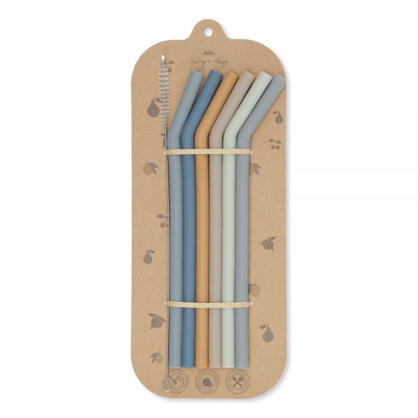 Konges Sløjd  - 6 PACK STRAWS BLUE MIX - Homeware