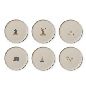 Liewood  - PATRICK BAMBOO PLATE 6-PACK HOLIDAY MIX - Homeware
