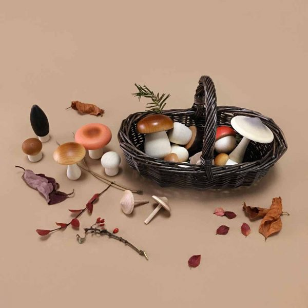 Moon Picnic  - FOREST MUSHROOM BASKET - DARK - Toys