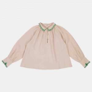 Caramel  - RUFF BLOUSE THUNDER - Clothing