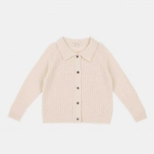 Caramel  - WOODPEKER CARDIGAN CREAM - Clothing